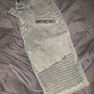 Military green high rise jegging